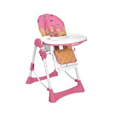 Kikka Boo High chair Ice cream pink