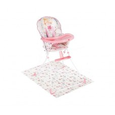 Kikka Boo High chair Be Happy Flowers with pad