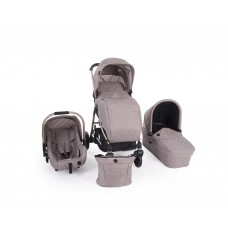Kikkaboo Baby Stroller Trinity 3 in 1 Beige Melange