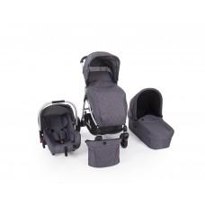 Kikkaboo Baby Stroller Trinity 3 in 1 Grey Melange