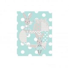Kikka Boo Baby blanket Rabbit 110*140 cmmint