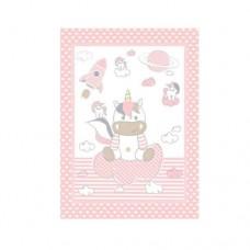 Kikka Boo Baby blanket Unicorn 80*110 cmpink