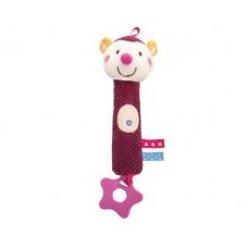 Kikka Boo Squeaker toy Hedge pink