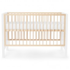 KinderKraft Baby cot MIA with mattress, white