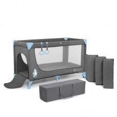 KinderKraft Travel Cot Joy Simple blue