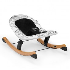 KinderKraft Finio Bouncy chair with rocker function, black and white