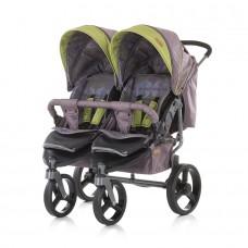 Chipolino Бебешка количка за близнаци Туикс трюфел