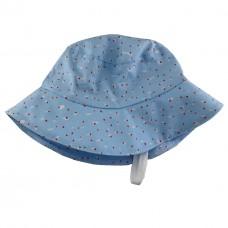 Комес Бебешка шапка светлосиня на точки