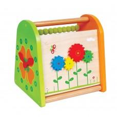 Lelin Toys Дървена играчка за активни занимания 4 в 1 Пролет