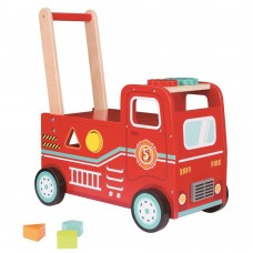 Lelin Toys Wooden Fire Engine Rider and Push