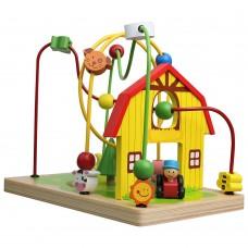Lelin Toys Дървен лабиринт Ферма
