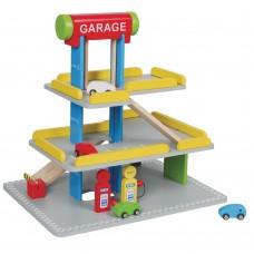 Lelin Toys Wooden Car Parking Garage