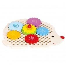 Lelin Toys Играчка със зъбни колела Таралеж