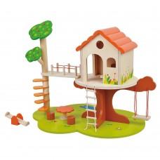 Lelin Toys Wooden Tree House
