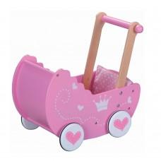 Lelin Toys Дървена количка за кукли