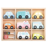 Lelin Toys Vehicle set in wooden box