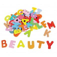 Lelin Toys Дървени магнити Английска азбука, главни букви