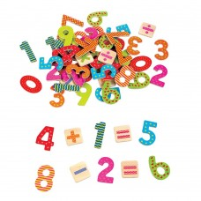 Lelin Toys Дървени магнити Цифри и знаци