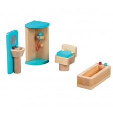 Lelin Toys Wooden Bathroom Furniture Playset