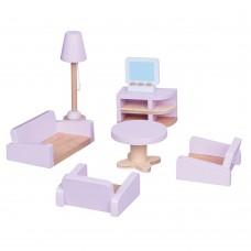 Lelin Toys Дървени мебели за игра Хол