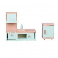 Lelin Toys Дървени мебели за игра Кухня
