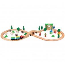 Lelin Toys Wooden Train Set