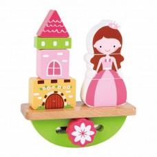 Lelin Toys Дървена играчка за баланс Принцеса