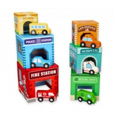 Lelin Toys Vehicles Stacking Cubes