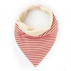 Bandana Bib Red stripe