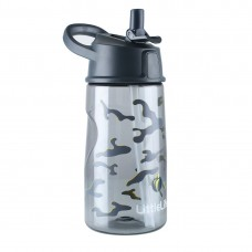 LittleLife Flip-top water bottle 550ml, Camouflage