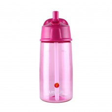 LittleLife Flip-top water bottle 550ml, Pink