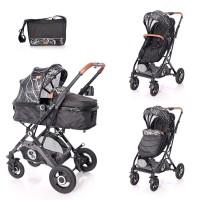 Lorelli Baby stroller Sena, black marble
