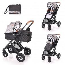 Lorelli Baby stroller Sena, grey marble