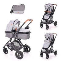 Lorelli Baby stroller Sena, grey squared