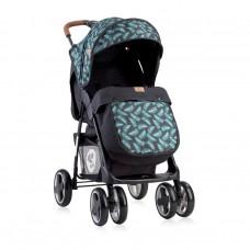 Lorelli Детска лятна количка Ines с покривало black leaves