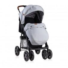 Lorelli Детска лятна количка Ines с покривало черно-сива