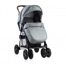 Lorelli Детска лятна количка Ines с покривало тъмносива