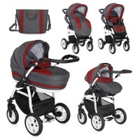 Lorelli Stroller Kara 3 in 1 with carrycot red