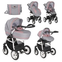 Lorelli Stroller Kara 3 in 1 with carrycot pink