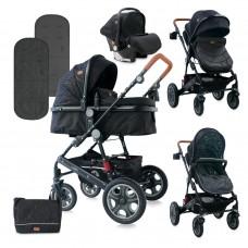 Lorelli Baby stroller Lora Set black cirkles