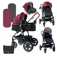 Lorelli Baby stroller Lora Set red and black