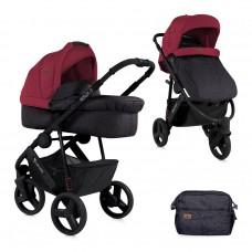 Lorelli Детска количка Monza 3 2 в 1 Black&Red