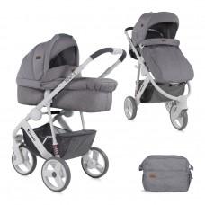 Lorelli Детска количка Monza 3 2 в 1 сива
