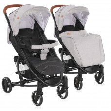 Lorelli Baby stroller S300 with footcover, grey and black