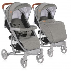 Lorelli Baby stroller S300 with footcover, Grey