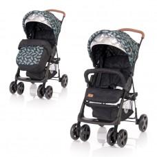 Lorelli Baby stroller Terra with Footmuff, Black Leaves
