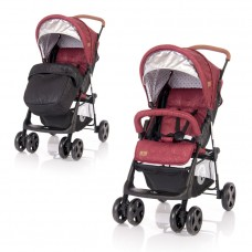 Lorelli Baby stroller Terra with Footmuff, Red and Black Dots