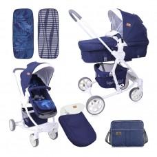 Lorelli Baby stroller Aster Dark Blue Flowers