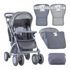 Lorelli Детска количка Toledo с покривало сива