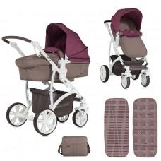 Lorelli Baby stroller Vista Beige&Red